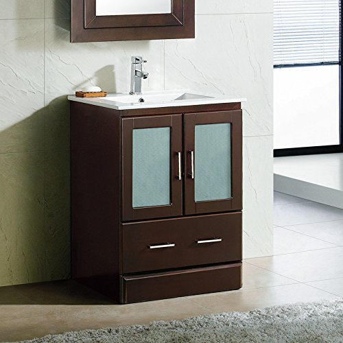24″ Bathroom Vanity CabiCeramic Top Sink MCT   crung5588