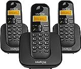 Tecnologia DECT 6.0; Identificação de chamadas; Display luminoso. Capacidade para até 7 ramais (base + 6 ramais); Agenda para 70 contatos. Registro de 15 chamadas recebidas, 20 não atendidas e 15 originadas; Discagem rápida para até 10 números. Data,...
