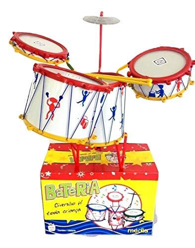 Mini bateria infantil musical 4 tambores 1 prato