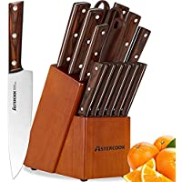 Astercook 15 Pieces Kitchen German High Carbon Stainless Steel Knife Set