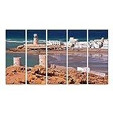 bilderfelix® Bild auf Leinwand SUR, Oman: Blick auf Ayjah