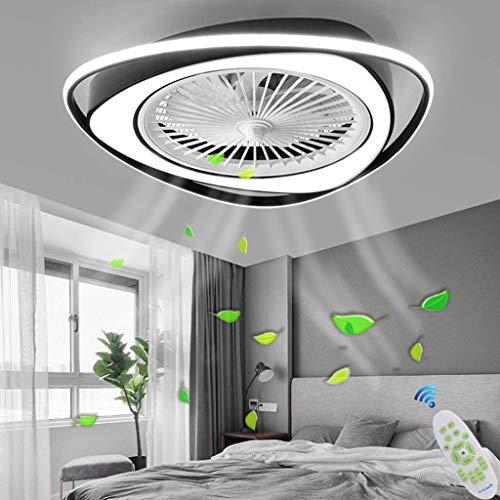 Deckenleuchte Deckenventilator Mit Beleuchtung LED-Licht Dimmbar Mit Fernbedienung Einstellbare 3 Windgeschwindigkeit Moderne Deckenleuchte Schlafzimmer Wohnzimmer Esszimmer Kronleuchter (schwarz)