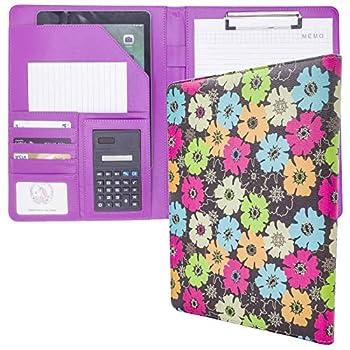 Portfolio Folder Womens Clipboard Gorgeous Design for Busines Portfolio Organizer Resume Folder Nursing Cute Folder Clipboard Storage,Leather Portfolios for Women Office Organize