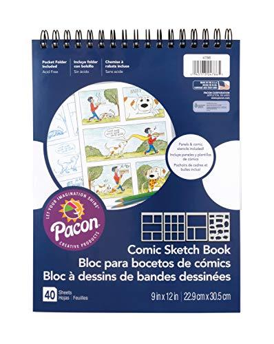Pacon Comic Sketch Book, 9'X12', 40 Sheets