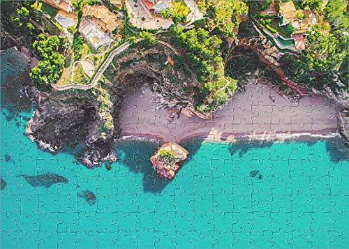 252 Piece Puzzle of Aerial Picture Taken with Drone of a Beautiful Beach with Turquoise (18272279)