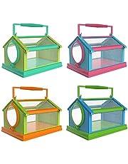 YUYAN - Jaula portátil para insectos, mariposas, hábitat, terrario, plegable, para exteriores, para la reproducción de insectos, transpirable y cómodo para el hogar