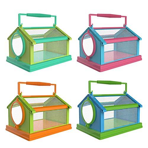 xzbnwuviei Tragbarer Schmetterlingskäfig für Kinder, Insektenbeobachter, tragbarer Insektenschmetterlings-Käfig, Terrarium, faltbar, für den Außenbereich, Insektenzucht, atmungsaktiv und bequem