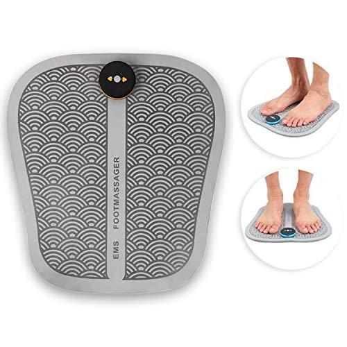 Esterilla de masaje para pies y piernas pesadas (gris), estimulador eléctrico muscular para la circulación sanguínea, relajación, masaje, antiestrés, cuidado de reflexología plantar, bienestar.