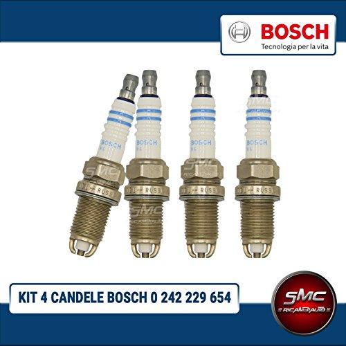 - SMC - Kit de 4 bujías de encendido originales de - Bosch -. Código artículo: 0242229654