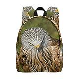 Sac à Dos d'écolier pour Enfant Fille Garçon Faucon Oiseau Aigle Livre Sac à Dos Loisir Voyage