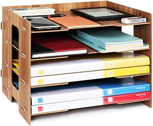 Oficina Organizador, Bandeja de Relleno, Organizador para Papel A4, Letras, Archivos y Documentos (Estante de archivos)