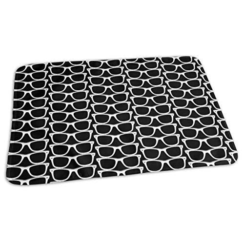 Risky Business (Black Maxi) Nerd Geek Chic Bril Zonnebril Retro s Mode Bed Pad Wasbaar Waterdichte Urine Pads voor Baby Peuter Kinderen en Volwassenen 27.5 x19.7 inch