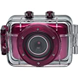 Vivitar DVR781HD HD Waterproof Action Video Camera Camcorder with Helmet & Bike Mounts (Pink)