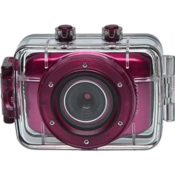 Vivitar DVR781HD HD Waterproof Action Video Camera Camcorder with Helmet & Bike Mounts  Pink