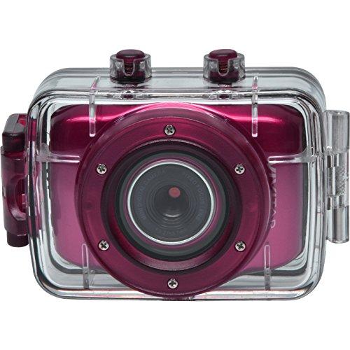 Vivitar DVR781HD HD Waterproof Action Video Camera Camcorder with Helmet & Bike Mounts (Pink)