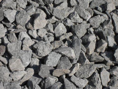 Der Naturstein Garten 25 kg Anthrazit Basaltsplitt 16-32 mm - Basalt Splitt Edelsplitt Lava Lavastein - Lieferung KOSTENLOS