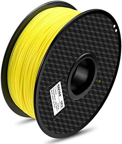 TIANSE TPU Flexible 3D Printer Filament Fluorescent Yellow 1 75mm Diameter Tolerance 0 03 mm product image