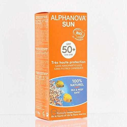 Alphanova Lait solaire SPF 50+ très haute protection parfum Monoï 50ml