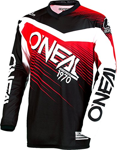 0008-303 - Oneal Element 2018 Racewear Motocross Trikot M Schwarz Rot