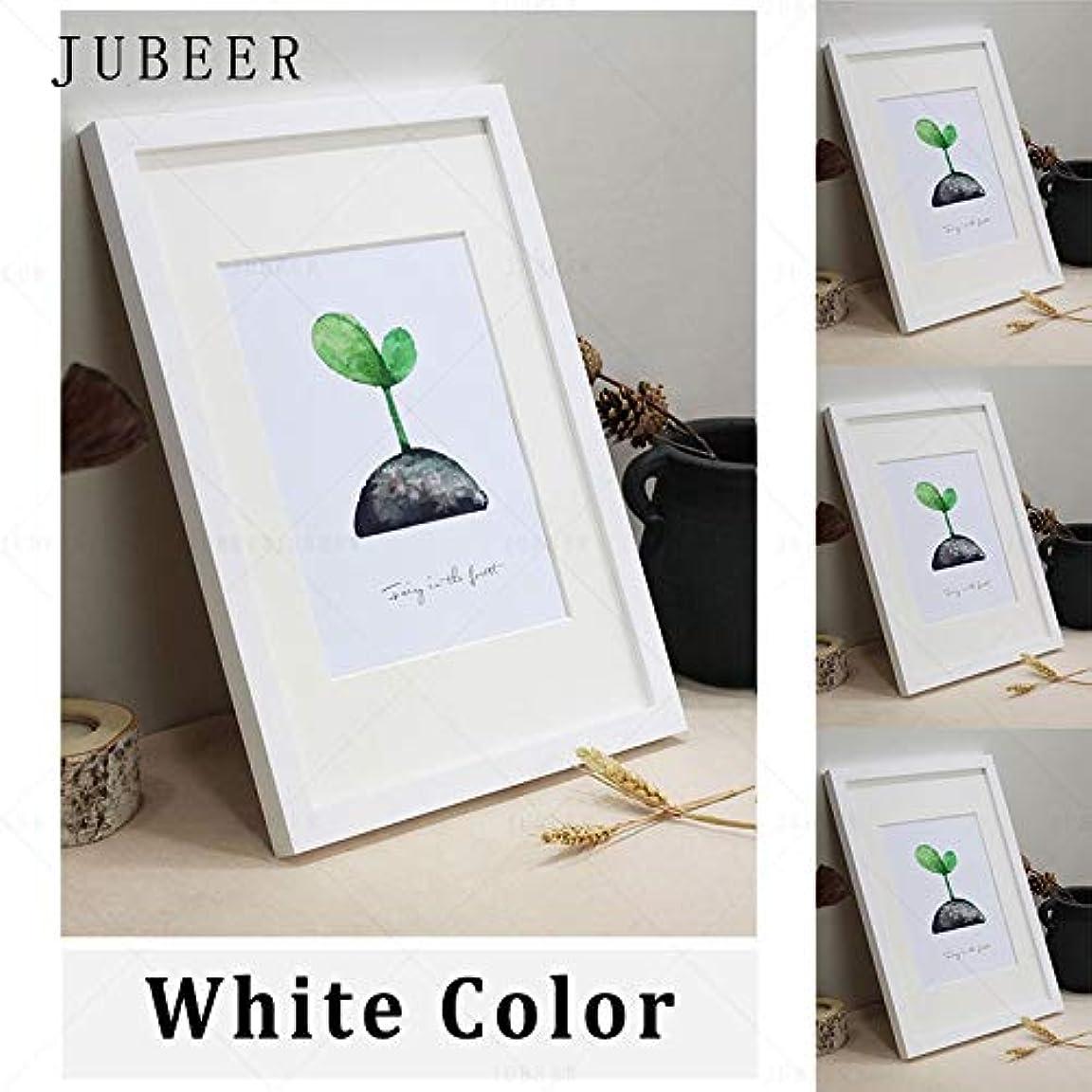 マーティンルーサーキングジュニア兄バンケットファッション創造 北欧のシンプルな木製フレームA4 A3ブラックホワイト色の画像をフォトフレーム用壁掛け額縁ウォールフォトフレームホームデコレーション (Color : White, Size : 6x8inch(15x20cm))
