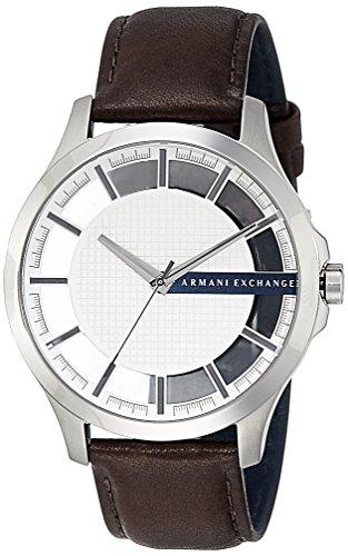 Relógio masculino Armani Exchange AX2187 de couro marrom quartzo