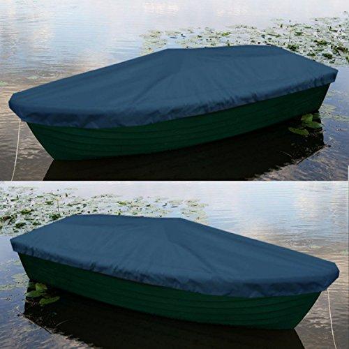Sitzbag Anka Bootsplane Blau für Anka Ruderboote - Plane mit Kordelseil und Schlaufen - Premium Persenning Fischerboot Plane Abdeckplane Angelboot