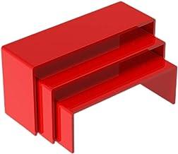 bibididi 3 Stuks Sieraden Dessert Display Stand Multifunctionele Opslag Rack Ketting Showcase, Opslag Rack Staande Plank, ...