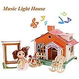 Smibie Kinder 3D Puppenhaus, Puzzle Haus Geschenk mit Puppe Musik Licht ab 6 Jahre Mädchen, 74...