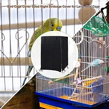 Couverture De Cage D'oiseau, Couverture De Cage À Oiseaux Bonne Nuit, Couverture De Cage De Perroquet De Cockatiel D'animal Familier, Couverture D'ombre Anti-poussière Coupe-vent Pour La Cage D'oiseau