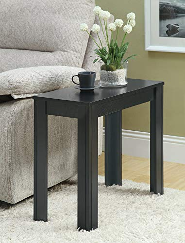 Monarch Specialties Black Oak Accent Side Table