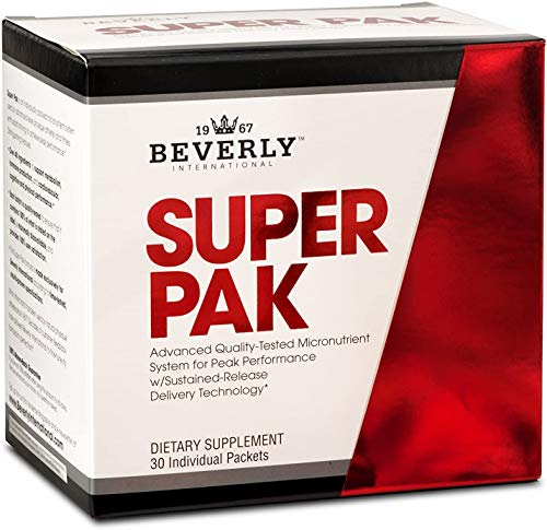 Beverly International Super Pak. 30 Paks. High-Potency Multivitamin Daily Pack for maximum energy, performance, immune system health. Custom-formulated for athletes and active individuals since 1970.