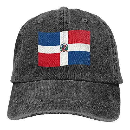 Zhark Baseballkappe mit Flagge der Dominikanischen Republik, verstellbar, modisch, Hip-Hop-Jeans, für Herren und Damen