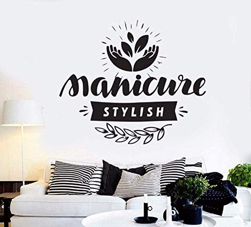 Salon de beauté manucure cosmétique cils motif art vinyle autocollant mural art décoration décalque 83 * 70 cm