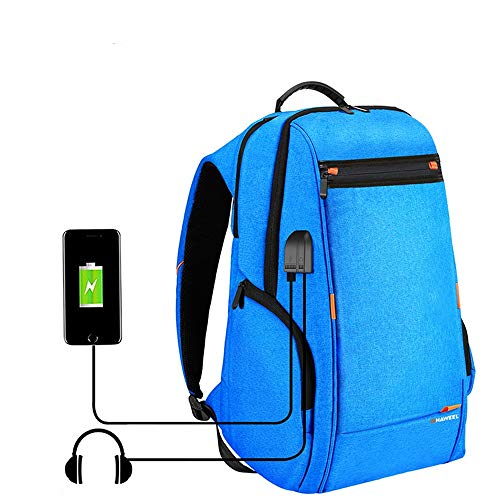 Mochila para portátil, con puerto de carga USB y auriculares Interfaz de...