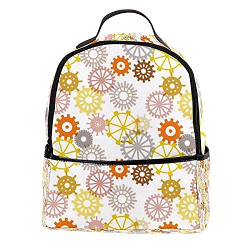 ATOMO Mini mochila casual reloj piezas patrón PU cuero viaje bolsas de compras Daypacks