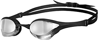 Arena Cobra Ultra Swimming Goggles, Professional Competitive Swim Racing Goggles for Men and Women with Interchangeable Nose Bridge, Best for Indoor Outdoor triathlons and Lap Swimming