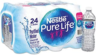 Nestle 101264CT Pure Life Purified Water, 16.9 oz Bottle, 24/Carton
