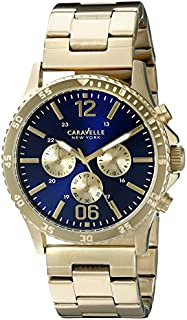 Caravelle New York Men's 44A106 Analog Display Quartz Gold Watch