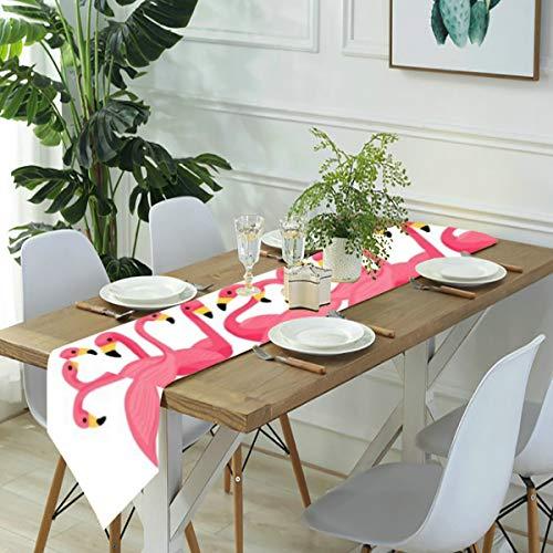 Meiya-Design Camino de mesa para vestir, bufandas, caminos de cocina con flamencos...