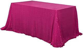 BalsaCircle 60x102-Inch Fuchsia Rectangle Tablecloth for Wedding Party Cake Dessert Events Table Linens