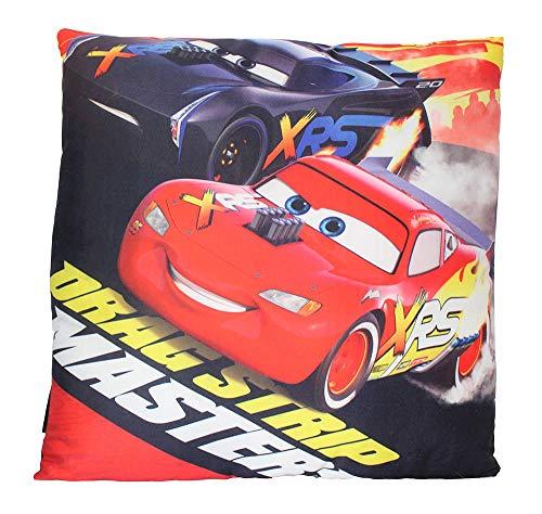Coussin Disney Pixar Cars Lightning McQueen Jackson Storm 40 x 40 cm, oreiller, coussin d'assise, coussin décoratif avec Oeko Tex Standard 100