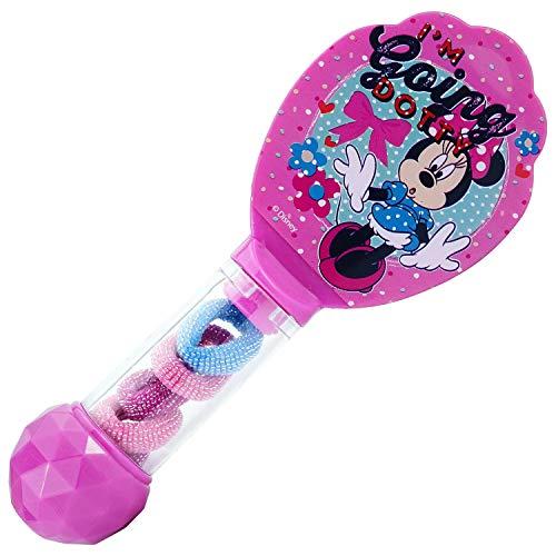 HOVUK - Cepillo para el pelo con 6 bobinas de plástico con estampado para niños, diseño de Minnie Mouse, multicolor