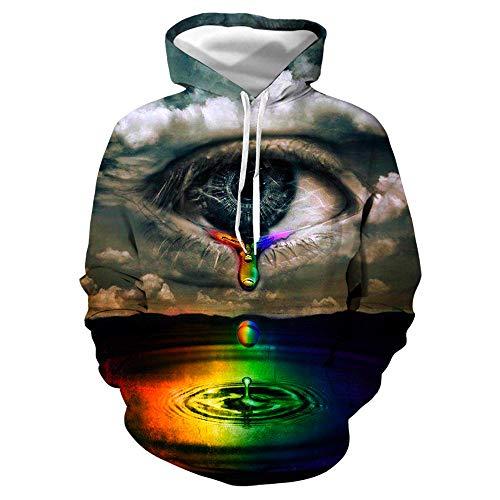 jiuyaomai Sweatshirt Simpatico Pacchetto di Espressioni Maglione Stampato 3D Giacca Coppia con Cappuccio Sciolto 5 2XL
