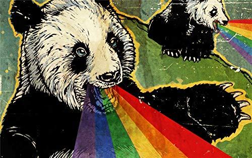 FFGHH Puzzle Puzzle 120 Piezas Puzzles Infantiles 5 Años Educativos Panda Puzzles Madera Rompecabezas Divertido para Adultos Amigo Y Niños 25X20Cm