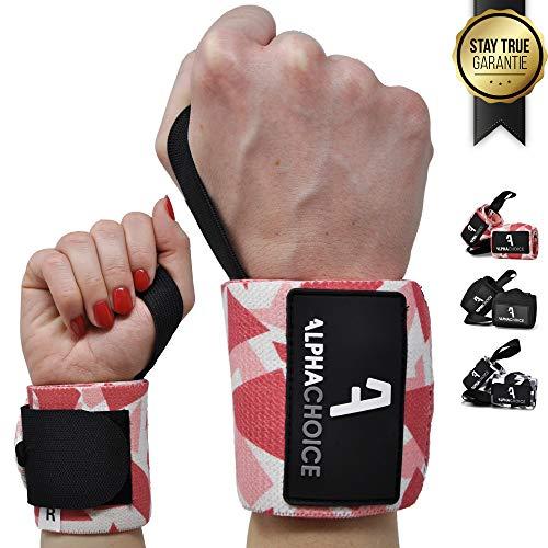Alphachoice Handgelenk Bandagen Fitness Handgelenkschoner für Bodybuilding, Krafttraining, Crossfit | Wristband Handbandage Gelenkschoner Frauen und Männer (Rose-Camouflage)