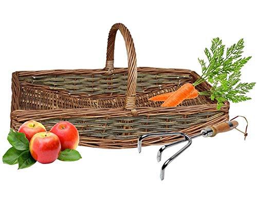 Wrenbury Willow Gardening Basket Trug Weave in Medium   Traditional Veg...