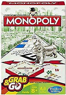 Hasbro Monopoly Grab and Go Game (Travel Size)