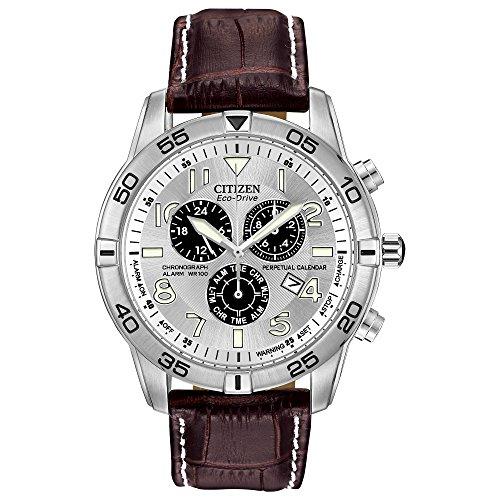 Relógio masculino Citizen Eco-Drive cronógrafo com calendário e data perpétua, BL5470-06A