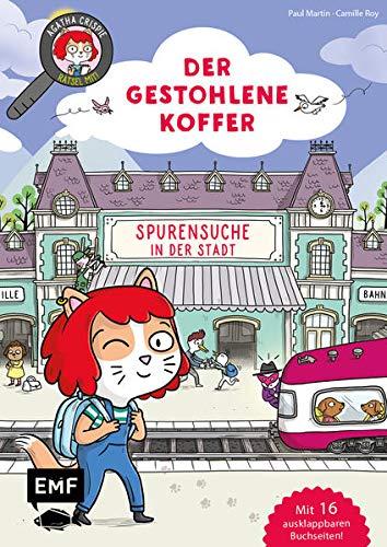 Agatha Crispie und der gestohlene Koffer – Spurensuche in der Stadt: Geschichte mit Bilderrätseln für Kinder ab 6 Jahren –Mit 16 ausklappbaren Buchseiten!