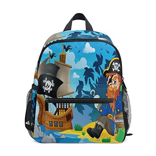 para Guarder/ía y Viajes Mochila Isot/érmica Infantil para Guardar Comida Kiwisac Mochila Infantil The Pirates Boy Ni/ño Color Negro 23 x 11 x 25 cm